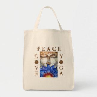 O bolsa das canvas de arte da aguarela de Buddha