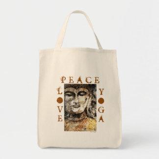 O bolsa das canvas de arte de Buddha do zen da