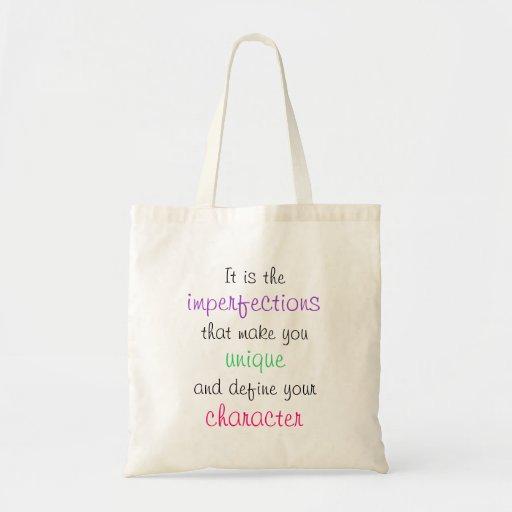 O bolsa das citações - imperfeições