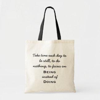O bolsa das citações - sendo em vez de fazer