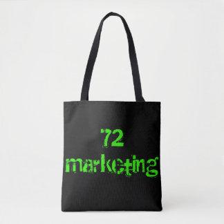 O bolsa de mercado do verde da sacola do design 72