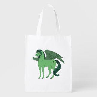 O bolsa de Pegasus do sótão Sacolas Ecológicas Para Supermercado