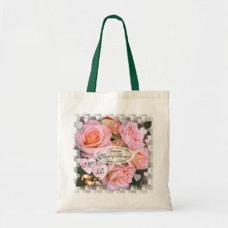 O bolsa do casamento do ~ dos rosas e dos corações