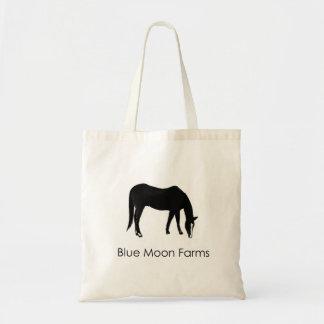 O bolsa do cavalo de fazendas da lua azul