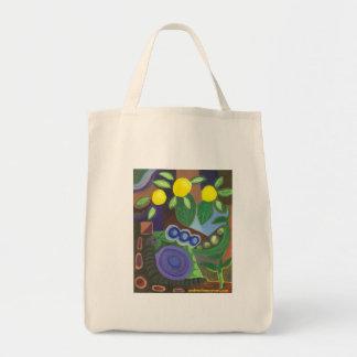 O bolsa do mercado dos caracóis, das ervilhas &