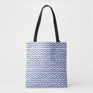 O bolsa do teste padrão de ziguezague   do azul de