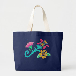 O bolsa floral do bordado do vintage