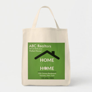 O bolsa Home doce Home verde do mantimento