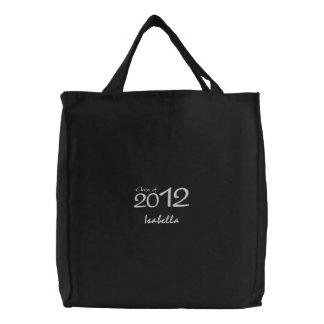 O bolsa preto & branco personalizado da graduação