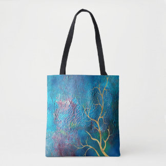 O bolsa reusável submarino abstrato da pintura |