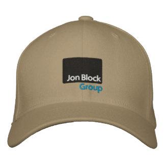 O boné bordado grupo do bloco de Jon