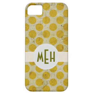 O branco amarelo do Grunge pontilha o caso do Capa Barely There Para iPhone 5