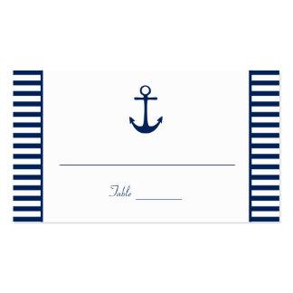 O branco dos azuis marinhos listra cartões cartão de visita