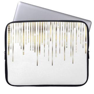 O branco e o ouro drapejam o luxo metálico capas para computadores