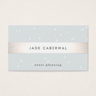 O branco listrado da prata elegante Stars o Cartão De Visita