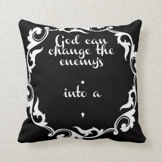 O branco no deus inspirado preto do provérbio pode travesseiro