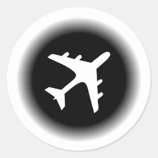 O branco preto desvanece-se design do avião adesivo