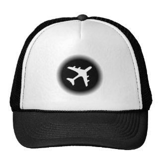 O branco preto desvanece-se design do avião boné
