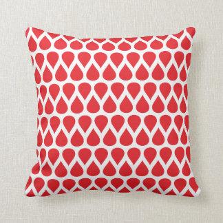 O branco vermelho pontilha o teste padrão geométri travesseiros
