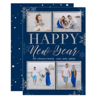 O brilho molda o cartão com fotos EDITÁVEL do ano