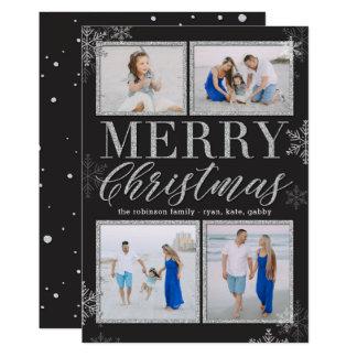 O brilho molda o cartão com fotos EDITÁVEL do Convite 12.7 X 17.78cm