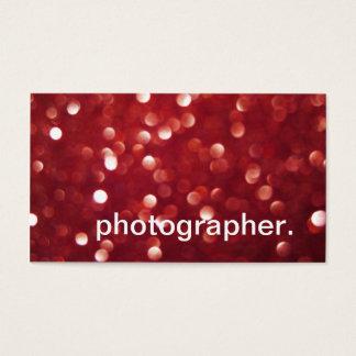 O brilho vermelho Sparkles fotógrafo do efeito de Cartão De Visitas