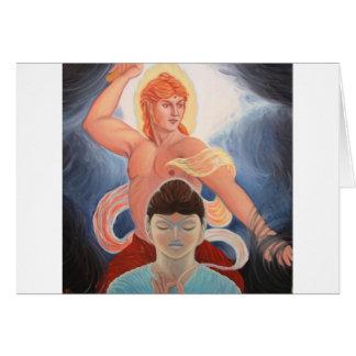 O Budda e o Apollo, como Manjushri Cartão De Nota