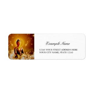O buddha etiqueta endereço de retorno