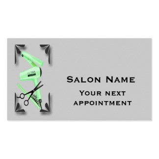 O cabeleireiro utiliza ferramentas o modelo do cartão de visita