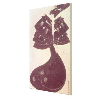 O cabo preto, ilustração para o editi inglês impressão de canvas esticadas