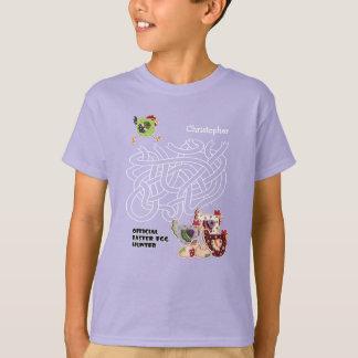 O caçador oficial do ovo da páscoa caçoa t-shirt