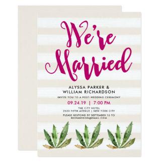 O cacto Glam | nós somos anúncio casado Convite 12.7 X 17.78cm