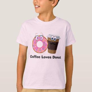 O café bonito e engraçado ama o tshirt da
