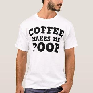 O café faz-me o tombadilho camiseta