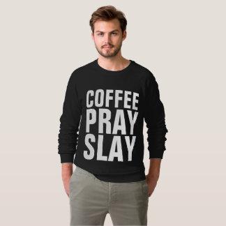 O CAFÉ PRAY MASSACRA, t-shirt cristãos