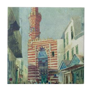 O Cairo por Konstantin Makovsky Azulejo Quadrado Pequeno