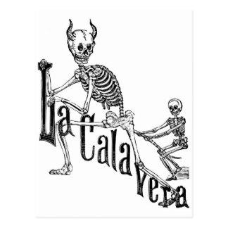 O Calavera Infernal. O dia dos mortos Cartão Postal