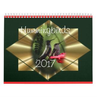 O calendário 2017 do colibri - mude o ano como