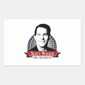 O caminhante de Scott para o presidente 2016 Adesivos Retangular