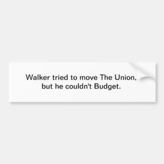 O caminhante tentou mover a união, mas não poderia adesivo para carro