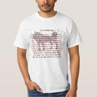 , o cão amigável. Rimas animais Tshirts