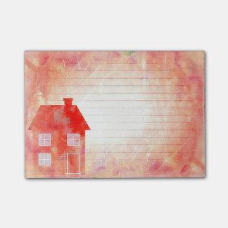 O Cargo-it® da casa do vermelho nota 4 x 3 Post-it Notes