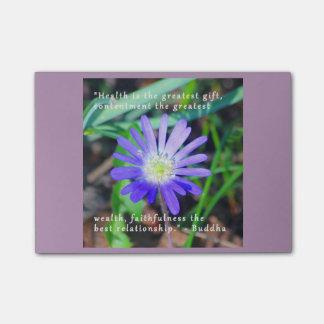 O Cargo-it® inspirado floral roxo nota 4 x 3 Post-it Notes