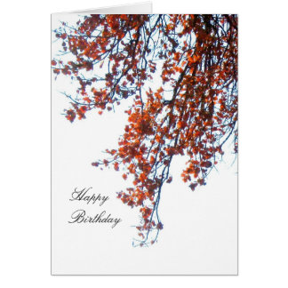O carmesim deixa o cartão do feliz aniversario