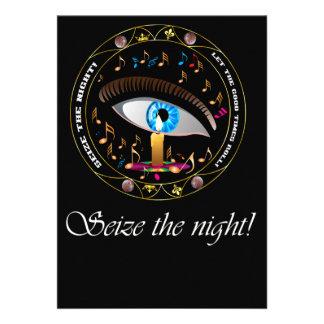 O carnaval Máscara-Apreende a noite Convites Personalizados
