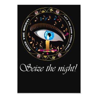 O carnaval Máscara-Apreende a noite Convite 12.7 X 17.78cm