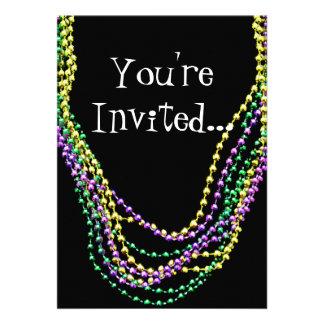 O carnaval perla o convite das colares