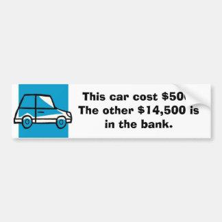 o carro, este carro custou $500. Os outros $14.500 Adesivo Para Carro