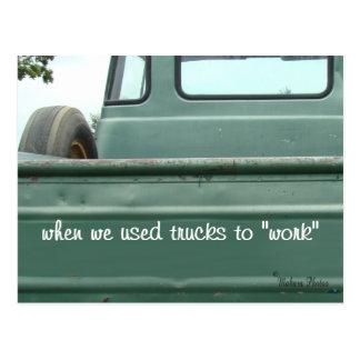 O cartão antigo #1- do camionete personaliza