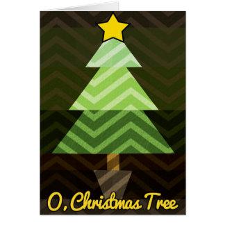 O, cartão da árvore de Natal